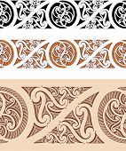 Maori styled seamless pattern. Vector illustration. Raster. Check my portfolio for a vector version.