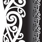 picture of maori  - Maori styled tattoo pattern - JPG