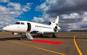 picture of jet  - White reactive private jet - JPG