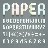 picture of arabic numerals  - Alphabet folded of toilet blue paper - JPG