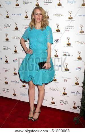 LOS ANGELES - SEP 20:  Sarah Paulson at the Emmys Performers Nominee Reception at  Pacific Design Center on September 20, 2013 in West Hollywood, CA
