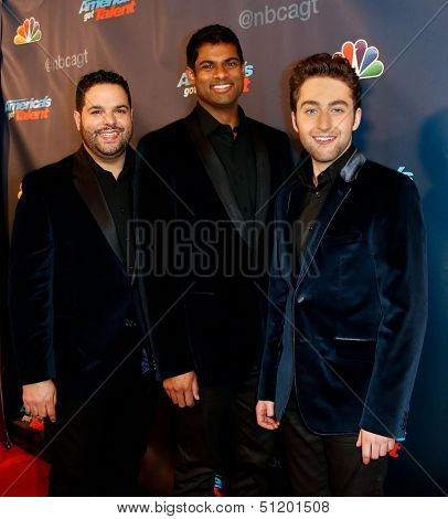 NEW YORK-SEP 11: Singing group Forte attends the pre-show red carpet for NBC's
