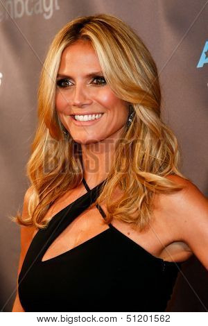 NEW YORK-SEP 11: Judge and supermodel Heidi Klum attends the pre-show red carpet for NBC's