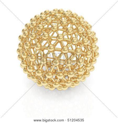 Golden 3D object