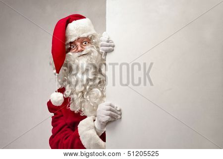 Santa Claus shows billboard