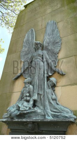 Guardian Angel Above Soldiers