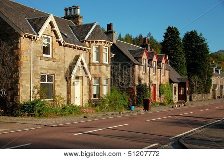 Spring evening in Strathyre, Scotland, UK.  Strathyre  is a district and settlement in the Stirling local government district of Scotland.