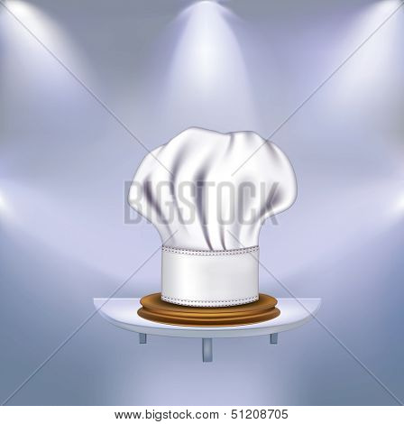 Hat chefs victorious in competitions. Rasterized illustration. Vector version in my portfolio