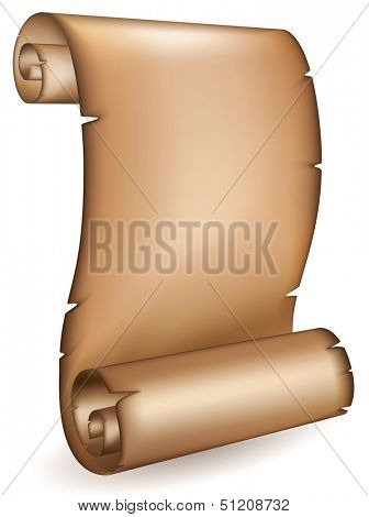 Old scroll. Rasterized illustration. Vector version in my portfolio