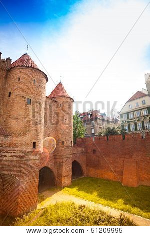 Tower And Walls Of Poland Barbican