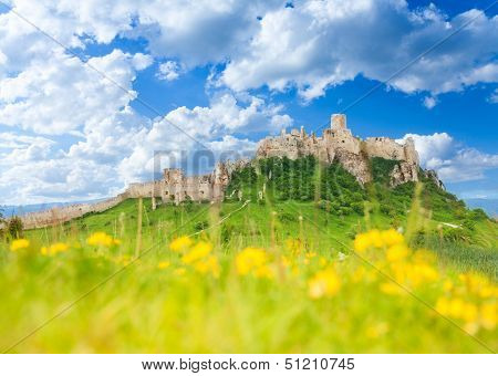 Spis Castle At Spring