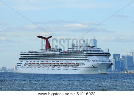 Carnival Glory Cruise Ship leaving New York