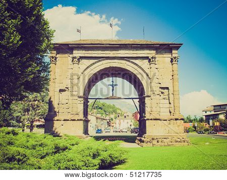 Retro Look Arch Of August Aosta