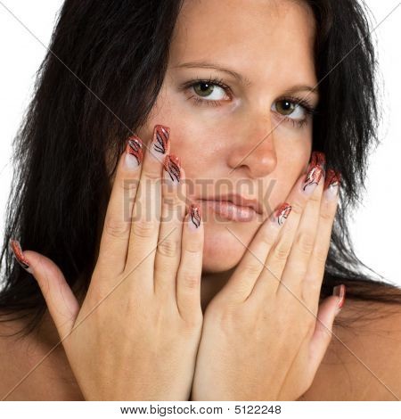 Girl With Nice Nails