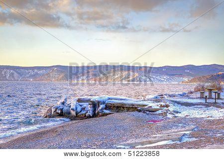 Baikal Shore Lakes. Hdr