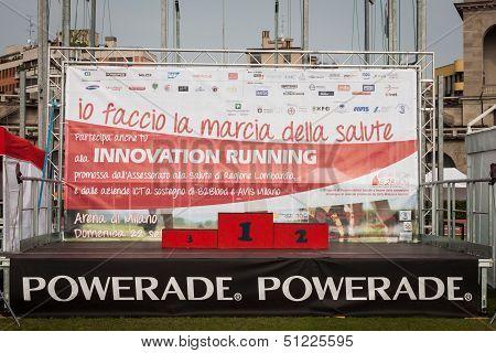 Podium at the Innovation Running in Milan, Italy