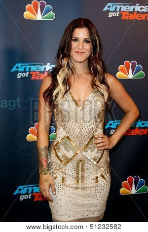 NEW YORK-AUG 28: Singer Cassadee Pope attends the post-show red carpet for NBC's