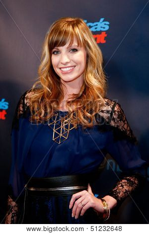 NEW YORK-SEP 17: Singer Cami Bradley attends the pre-show red carpet for NBC's