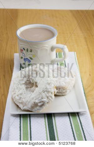 Two Doughnuts With Coffee