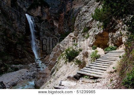 Dolomites, Italy - Cascata de Fanes - Val di Fanes