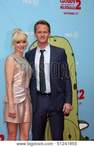 LOS ANGELES - SEP 21:  Anna Faris, Neil Patrick Harris at the