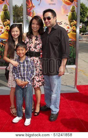 LOS ANGELES - SEP 21:  Michaela Zee, Cooper  Zee, Ming-Na Wen, Eric Zee at the