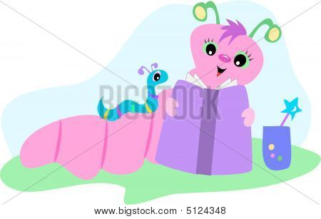 Pink And Blue Bookworms