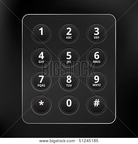 Black Vector Phone Keyboard