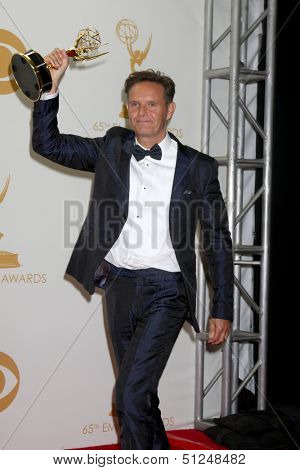 LOS ANGELES - SEP 22:  Mark Burnett at the 65th Emmy Awards - Press Room at Nokia Theater on September 22, 2013 in Los Angeles, CA