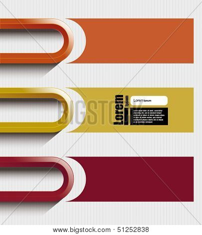 colorful abstract line. Modern Design template