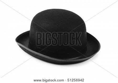 Black tophat top hat isolated on the white