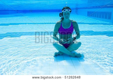 Female Meditating Underwater