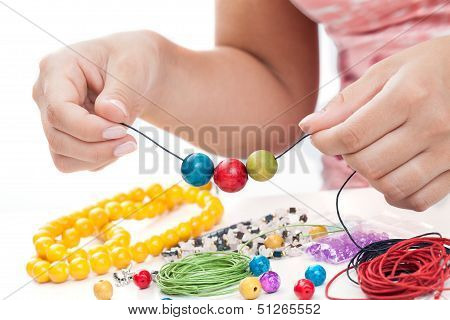 Girl's Hands Beading Necklace