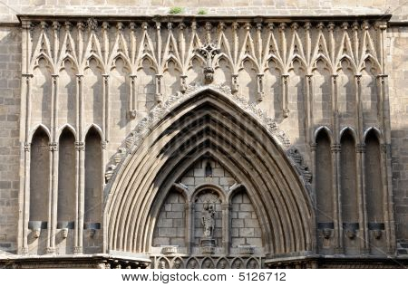 Santa Maria Del Pi In Barcelona, Spain