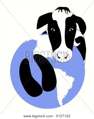 Impresión de pezuña de carbono de vaca