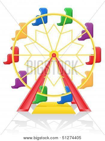 Ferris Wheel Vector Illustration