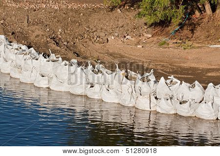 Large Sandbag Flood Defences