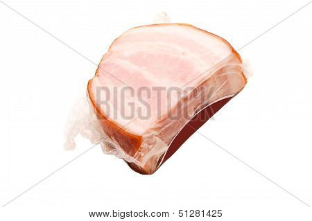 One Piece Of Smoked Pork Meat