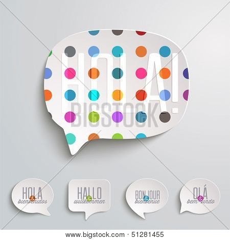 Web Speech Bubbles