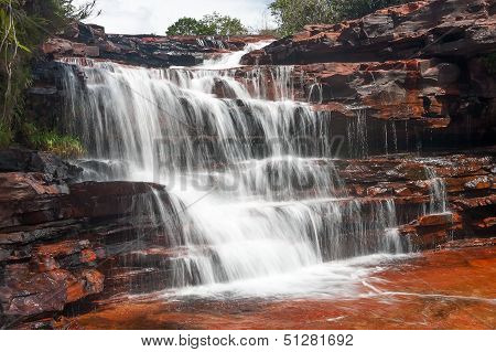 Jasper waterfall in Venezuela