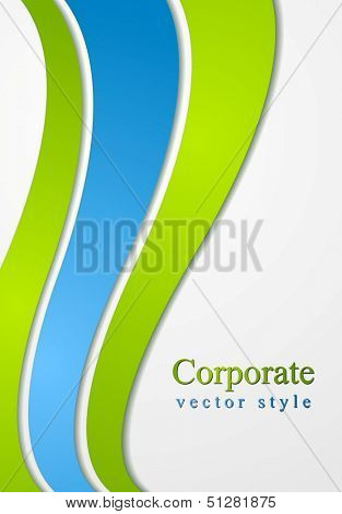 Concept waves vector style