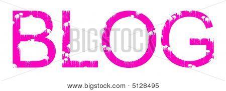 Pink Blog Grunge