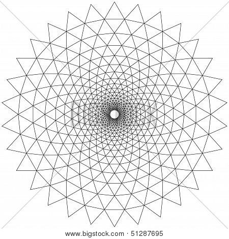 Concentric Circular Patterns White
