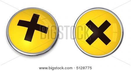 Button Irritant/harmful Hazard Symbol