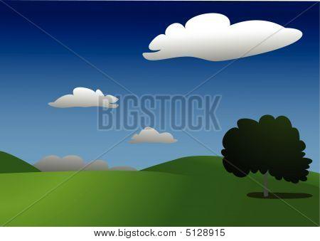 Serene Landscape (vector)