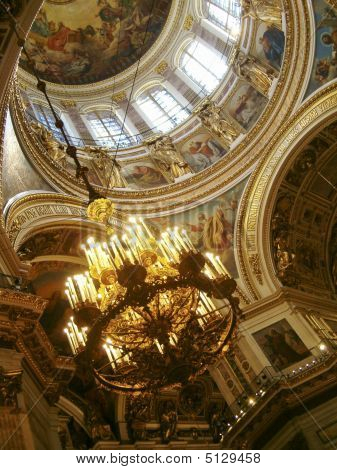 Interior Of St. Isaac's Dome, Saint Petersburg, Russia