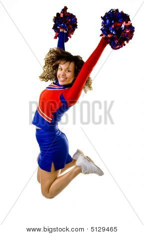 Cheerleader Jumping