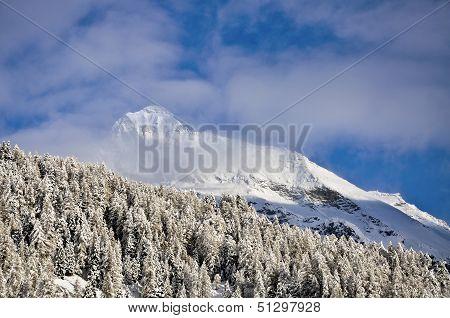 Cuneaz (aosta Valley) Mount Testa Grigia In Winter