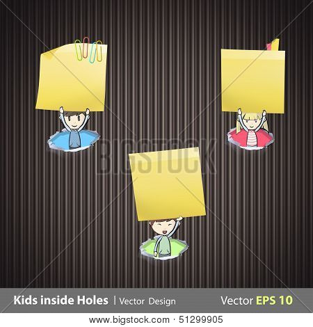 Group Of Kids Holding Yellow Paper