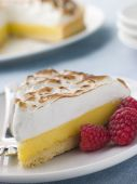 picture of dessert plate  - Dessert Lemon Meringue Lemon Meringue Pie Pie Raspberry Tart Food American Cuisine American Food Baked Baking Close - JPG